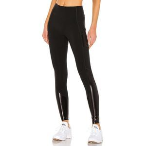 SPANX Gloss Pocket Faux Leather High Rise Leggings